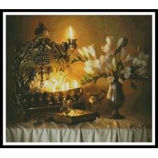 Hanukkah with Flowers - #10709-AB