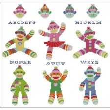 Sock Monkeys Colorful