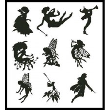 Little Fairy Silhouettes - #10769