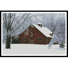 Red Barn in Snow - #10795