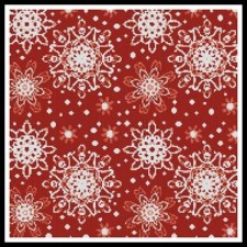 Red Snowflakes Cushion - #10839