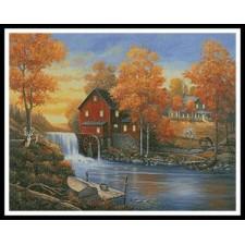 Autumn Sunset at the Old Mill - #10850-ARTL