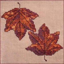 Autumn Leaves Wall Quilt Block E