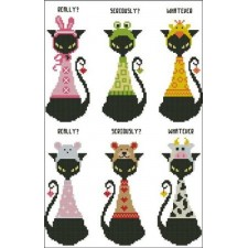 Black Cat Goofy Bookmark