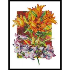 Amarylis and Daylilies - #10894-HH