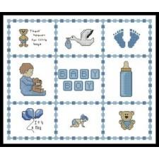 Baby Boy Sampler Small - #10912