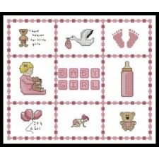 Baby Girl Sampler Small - #10913