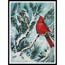 Winter's Glory Red Bird - #10938-PFLD