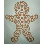 Tribal Gingerbread Man #000-279