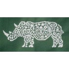 Tribal White Rhino