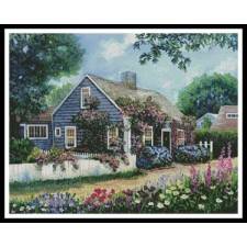 Cottage with Roses - #10984-HDLY