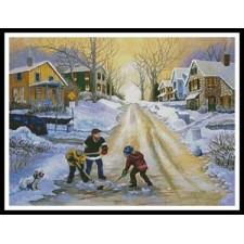 Winter Street Scene - #10985-HDLY