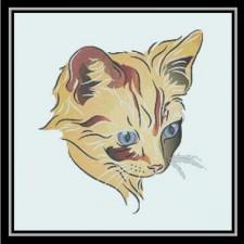 Kitten, Blue and Orange