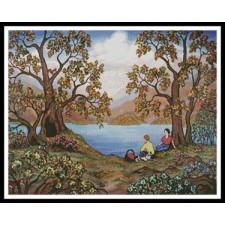 Picnic by a Lake - #11026-LM
