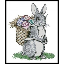 Easter Bunny Carrying Eggs - #11043