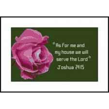 Rose with Joshua 24:15 verse