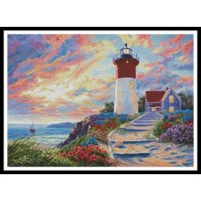 Colourful Lighthouse at Sunset - #11062-ARTL