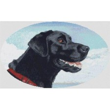 Black Labrador Retriever - Oval