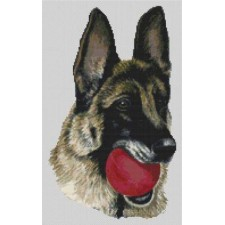 German Shepherd - Red Ball
