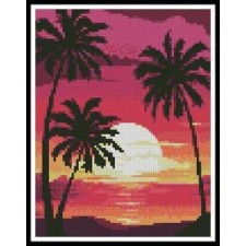 Mini Sunset with Palm Trees - #11076
