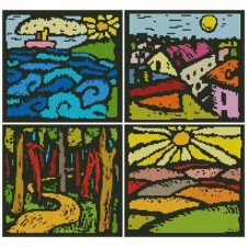 Colourful Landscape Sampler - #11097