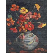 Vase with Petunias