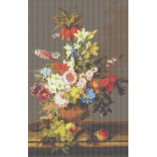 Still Life of Flowers, Grapes and Peaches