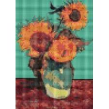 Vase with Three Sunflowers (Mini Chart)