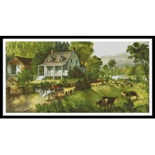 American Homestead in Summer - #11192