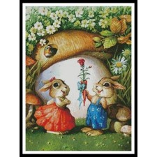 Rabbits and Carrot Rose - #11193-MGL