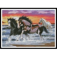 Horses on a Beach - #11200-INT