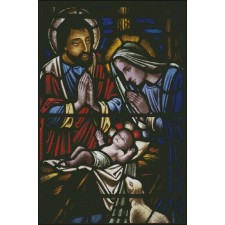 Stained Glass Manger 2