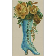 Victorian Boot with Roses