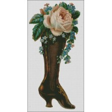 Victorian Boot with Roses 2