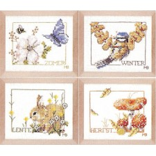 Counted cross stitch kit Four seasons set of 4