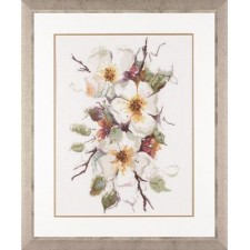 Counted cross stitch kit Apple blossom