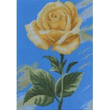 (OP=OP) Gele roos (Yellow Rose on Blue)