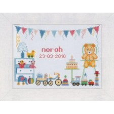 (OP=OP) Counted cross stitch kit First birthday