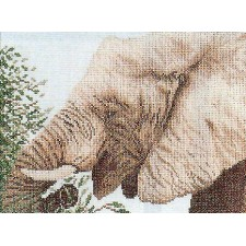 (OP=OP) Counted cross stitch kit Eating elephant