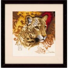 (OP=OP) Counted cross stitch kit Leopard