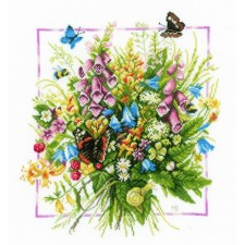 Counted cross stitch kit Summer bouquet