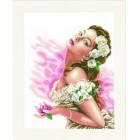 Counted cross stitich kit Lady of the Camellias
