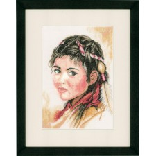 (OP=OP) Counted cross stitch kit Young squaw