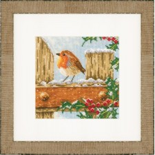 (OP=OP) Counted cross stitch kit Curious robin