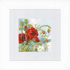 Counted cross stitch kit Poppies