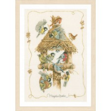 Counted cross stitch kit Birdhouse