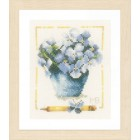 Counted cross stitch kit Pot with hydrangea