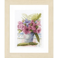(OP=OP) Counted cross stitch kit Flowers in bucket