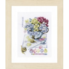 (OP=OP) Counted cross stitch kit Hydrangea
