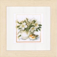 (OP=OP) Counted cross stitch kit Sheltering robin